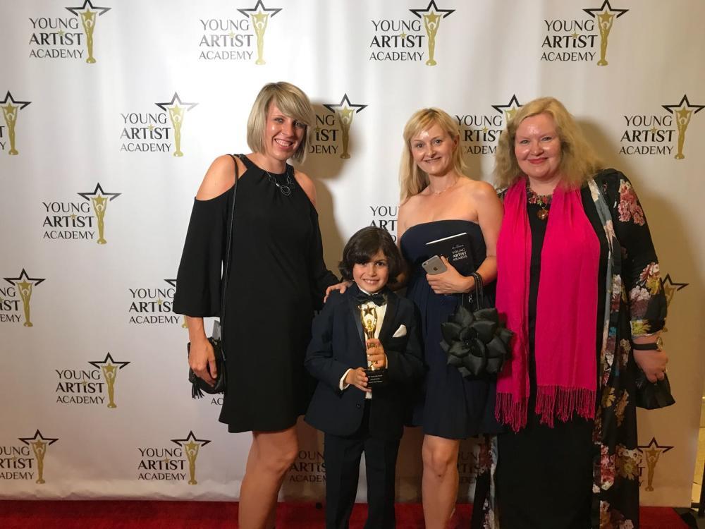 YAA (from left writer director, Jonah, producer, exec producer)